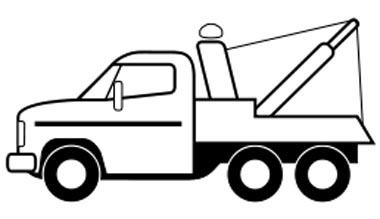 Abschleppwagen Malvorlage