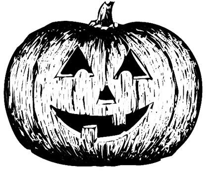 Halloween Kürbis Malvorlage - Pumpkin Ausmalbild