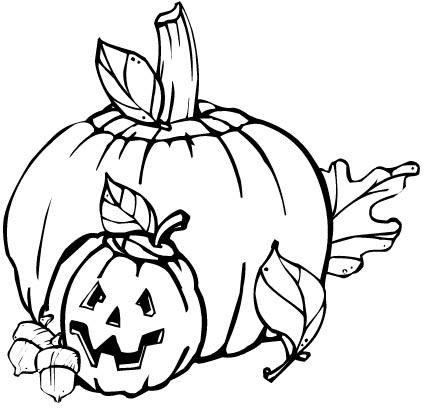 Halloween K�rbisse Malvorlagen