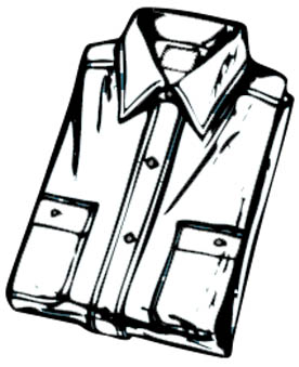 Hemd Malvorlage