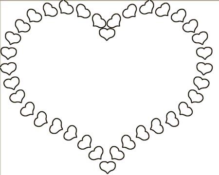 Herz aus Herzen Malvorlage