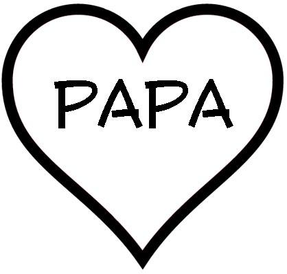 Herz mit Papa als Malvorlage