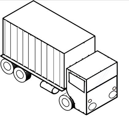 Lastwagen Malvorlage - kostenloses Ausmalbild