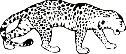 Leopard Malvorlage Kostenloses Ausmalbild