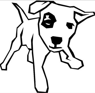 Lustiger Hund Malvorlage