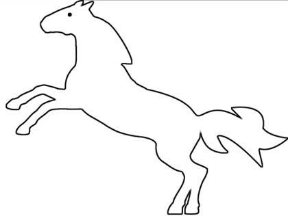 Wildes Pferd Malvorlage