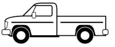 Pickup Malvorlage - Auto mit Ladefläche