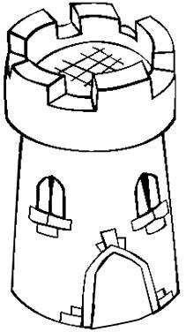 Turm Malvorlage