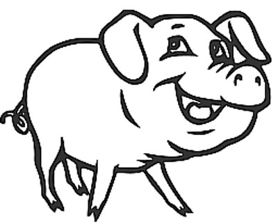 Schwein Malvorlage - Ausmalbild Schweine kostenlos