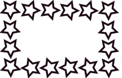 Stern Rahmen zum Ausmalen