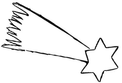 Sternschnuppe Malvorlage