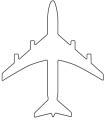 Flugzeug von oben als Malvorlage
