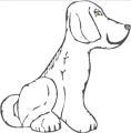 Sitzender Hund Malvorlage