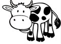Kuh Malvorlage