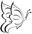 Fliegender Schmetterling Malvorlage