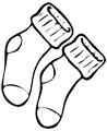 Socken Malvorlage