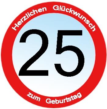 Gl�ckw�nsche zum 25. Geburtstag