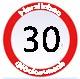 Geburtstagsgrüße zum 30igsten
