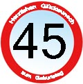Grüße zum 45. Geburtstag