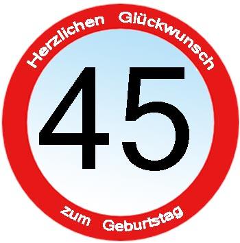 Geburtstagssprüche zum 45.