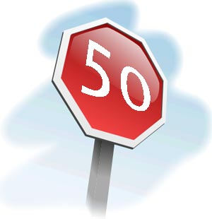 50. geburtstag - kostenlose einladungskarten vorlagen, Einladung