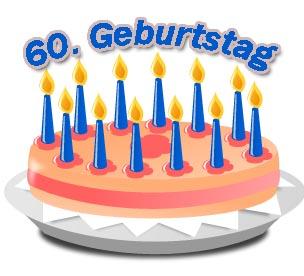 Bilder einer Geburtstagstorte zum 60. Geburtstag