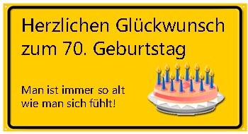 70igster Geburtstag witzig