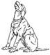 Hunde Vorlagen zum Zeichen und Malen