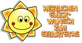 Kindergeburtstag Glückwünsche mit Sonne